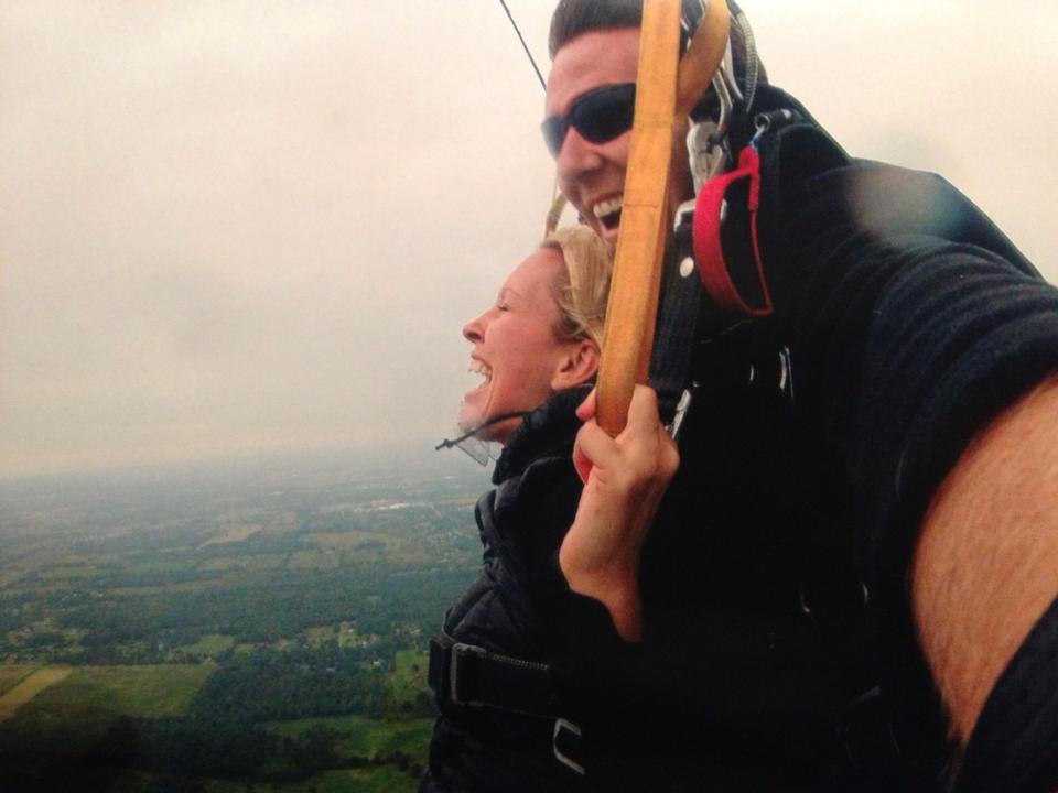 Fenton Chiropractor skydiving