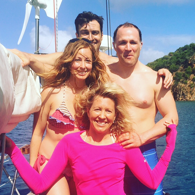 Fenton Chiropractor - BVI Sailing Picture Diary - Fab Four
