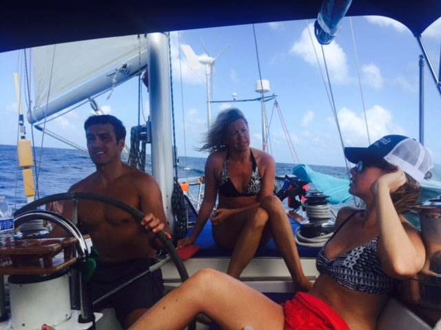 Fenton Chiropractor - BVI Sailing Picture Diary - Sailing and Talking