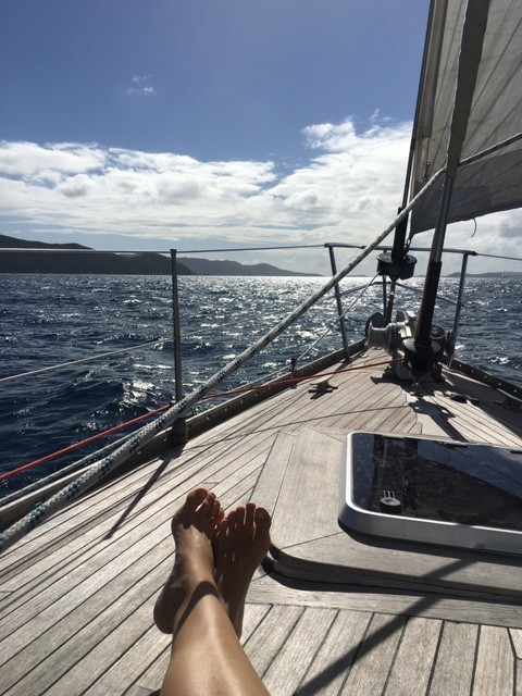Fenton Chiropractor - BVI Sailing Picture Diary - My Feet
