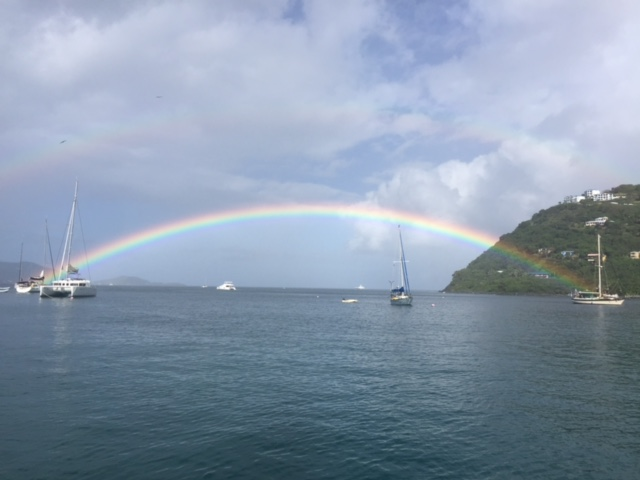 Fenton Chiropractor - BVI Sailing Picture Diary - Rainbow